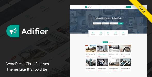 Wordpress Directory Template Adifier - Classified Ads WordPress Theme