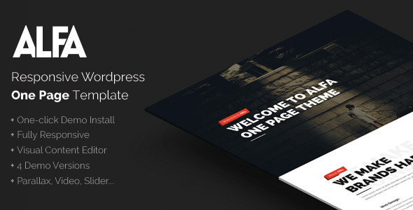 Wordpress Kreativ Template Alfa - Responsive Parallax & Retina Ready WordPress Theme for Freelancers, Studios and Agencies