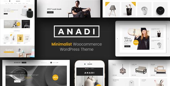 Wordpress Shop Template Anadi - WooCommerce Furniture WordPress Theme