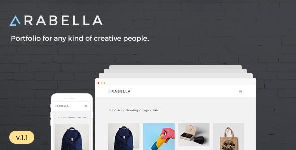 Wordpress Kreativ Template Arabella - Minimal Portfolio Theme