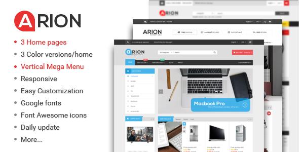 Wordpress Shop Template Arion - Responsive Multi-purpose WordPress Theme