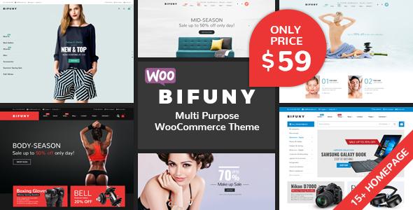 Wordpress Shop Template BIFUNY - Multipurpose WooCommerce WordPress Theme