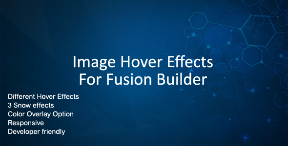 Wordpress Add-On Plugin Image Hover Effects for Fusion Builder