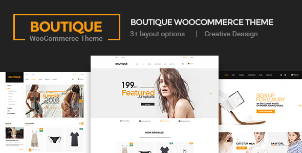Wordpress Shop Template Boutique - Creative Multi-Purpose WooCommerce Theme