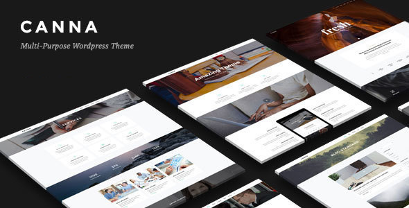 Wordpress Kreativ Template Canna - Creative Elegant WordPress Theme