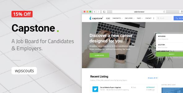 Wordpress Directory Template Capstone: Job Board WordPress Theme