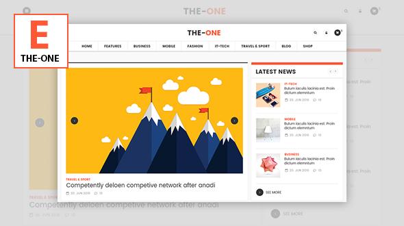 Wordpress Blog Template The One News Magazine Blog - Responsive WordPress Theme