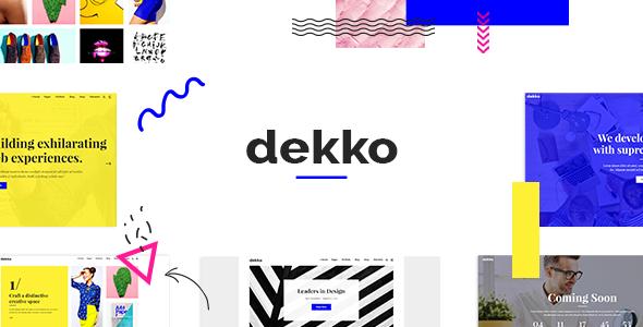 Wordpress Kreativ Template Dekko - A Vibrant Theme for Agencies and Freelancers