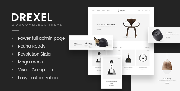 Wordpress Shop Template Drexel - WooCommerce Responsive Furniture Theme