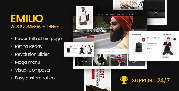 Wordpress Shop Template Emilio - Multipurpose Premium Responsive WordPress Theme