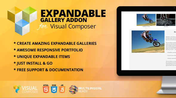 Wordpress Add-On Plugin Expandable Gallery Addon for WPBakery Page Builder (formerly Visual Composer)