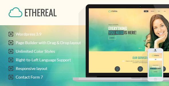 Wordpress Corporate Template Ethereal - Multipurpose Parallax WordPress Theme