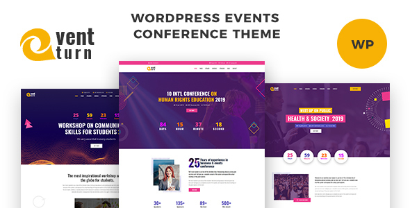 Wordpress Entertainment Template Eventturn - Responsive Events and Conference WordPress Theme