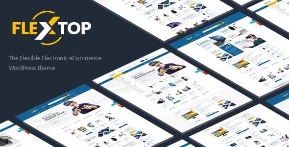 Wordpress Shop Template Flextop - WooCommerce Responsive Digital Theme