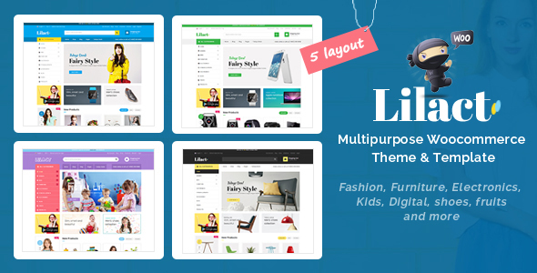 Wordpress Shop Template Lilac - Fashion Responsive WooCommerce WordPress Theme
