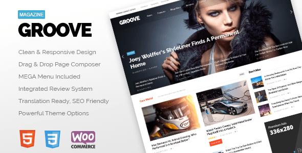 Wordpress Blog Template GROOVE - Clean Newspaper & Magazine Theme