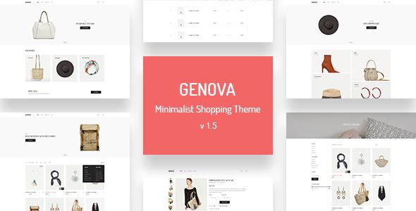 Wordpress Shop Template Genova - Minimalist AJAX WooCommerce WordPress Theme