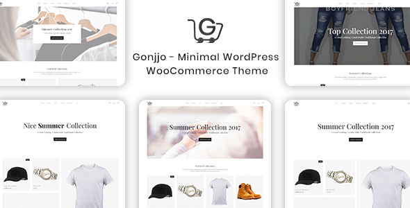 Wordpress Shop Template Gonjjo - Minimal WooCommerce Theme