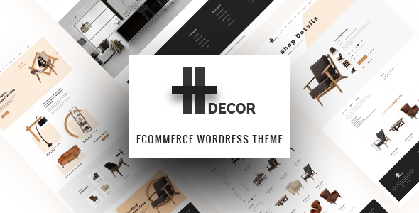 Wordpress Shop Template H Decor - Creative WP Theme for Furniture Business Online