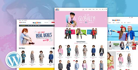 Wordpress Shop Template HappyChild - Multi Store Responsive WordPress Theme
