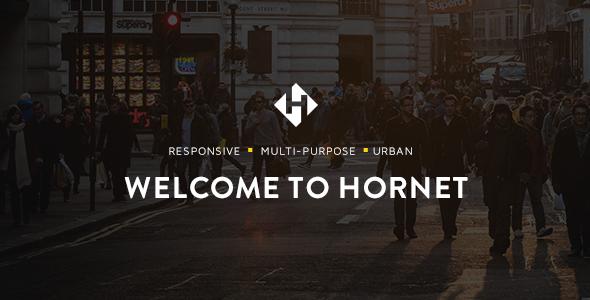 Wordpress Kreativ Template Hornet - An Urban Multi-Purpose Theme