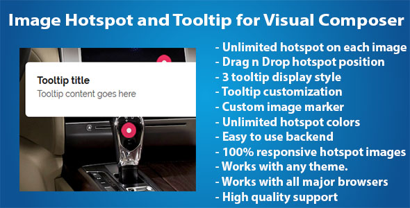 Wordpress Add-On Plugin Image Hotspot and Tooltip for Visual Composer