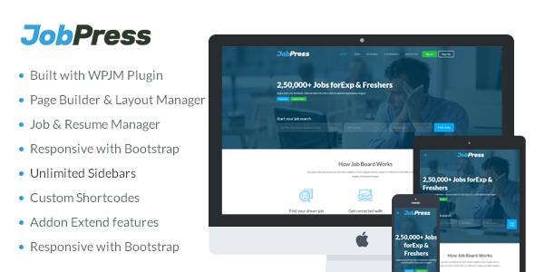 Wordpress Directory Template JobPress - Premium WordPress Job Manager Theme
