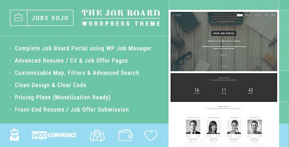 Wordpress Directory Template JobsDojo - The WordPress Job Board Portal Theme