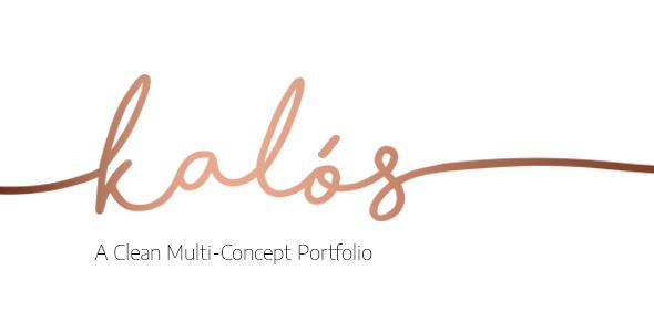 Wordpress Kreativ Template Kalόs - A Clean Multi-Concept Portfolio Theme