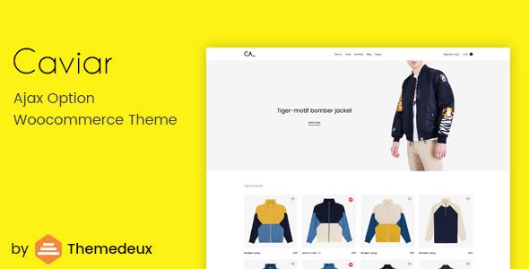 Wordpress Shop Template Caviar - Ajax Option Woocommerce Theme