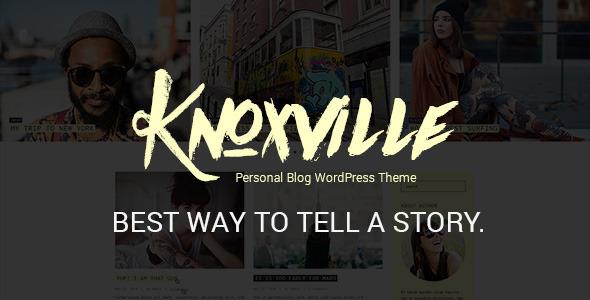 Wordpress Blog Template Knoxville - Responsive WordPress Blog Theme