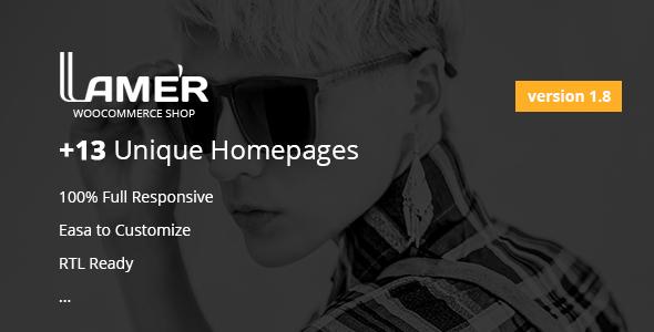 Wordpress Shop Template Lamer Fashion - WooCommerce WordPress Theme