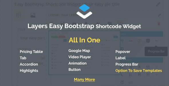 Wordpress Add-On Plugin Layers - Easy Bootstrap Shortcodes Widget