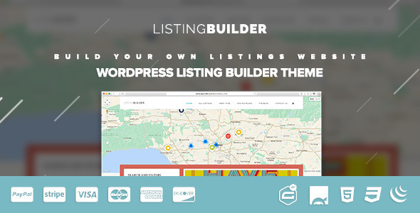 Wordpress Directory Template ListingBuilder - WP Listings Directory Theme