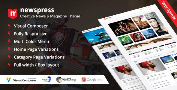 Wordpress Blog Template NewsPress - Responsive News / Magazine WordPress Theme
