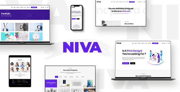 Wordpress Kreativ Template Niva -  Creative Agency & Freelancer WordPress Theme