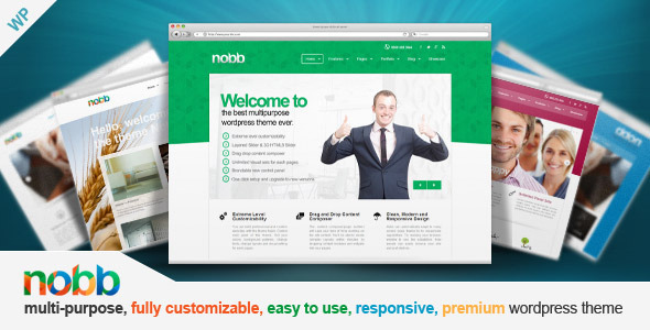 Wordpress Corporate Template Nobb - Responsive Multi-Purpose Theme