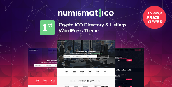 Wordpress Directory Template Numismatico - Cryptocurrency Directory & Listings WordPress Theme