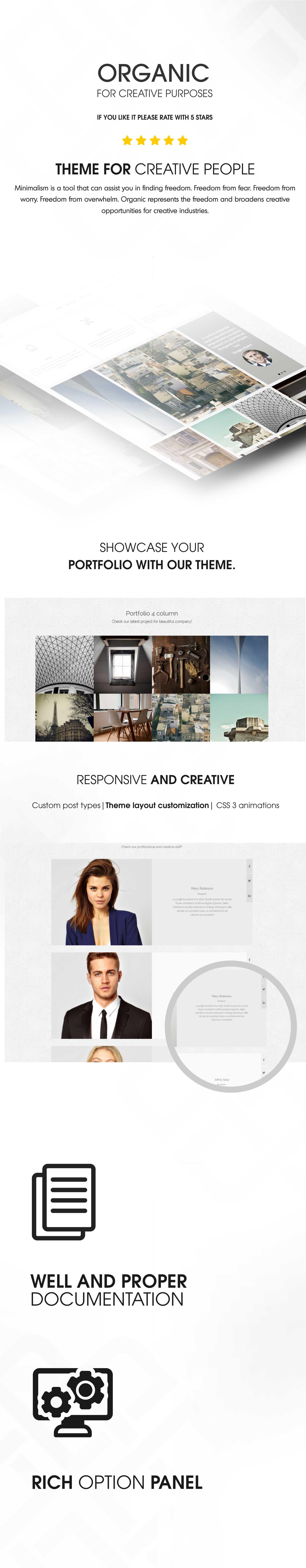 Wordpress Kreativ Template Organic - Architecture & Creatives WordPress Theme