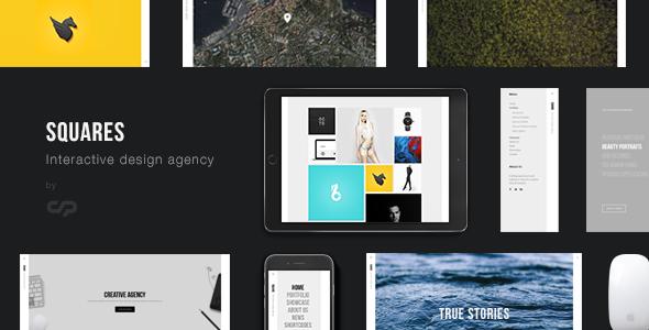 Wordpress Kreativ Template Squares - Interactive Design Agency Portfolio WordPress