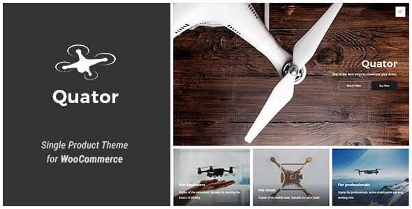 Wordpress Shop Template Quator - Single Product WordPress Theme
