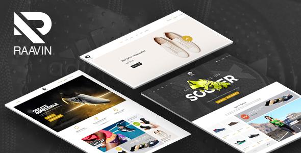 Wordpress Shop Template Raavin - Responsive WooCommerce WordPress Sport Shoes Theme