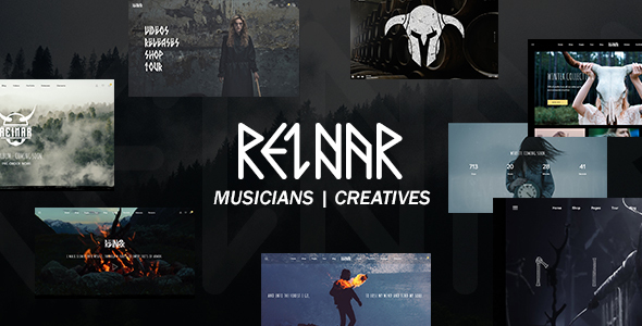 Wordpress Entertainment Template Reinar - A Nordic Inspired Music and Creative WordPress Theme