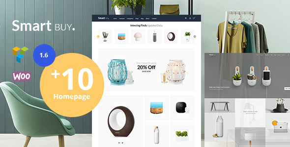 Wordpress Shop Template Smartbuy - Shop WooCommerce WordPress  For Digital and Garden Home Theme