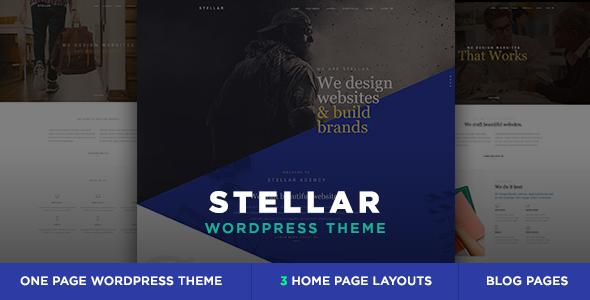 Wordpress Kreativ Template Stellar - One Page Multipurpose Responsive WP Theme