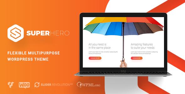 Wordpress Kreativ Template Superhero — Creative Multi-Purpose WordPress Theme