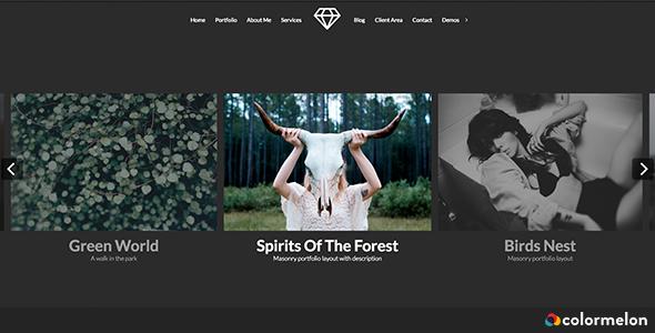 Wordpress Kreativ Template Talent - Horizontal Photography WordPress Theme