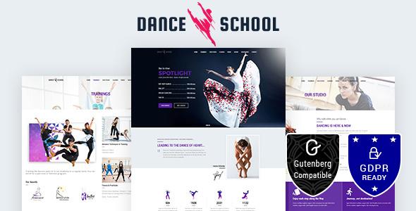 Wordpress Kreativ Template Dance School |  Dance Studio, Dance Academy Theme
