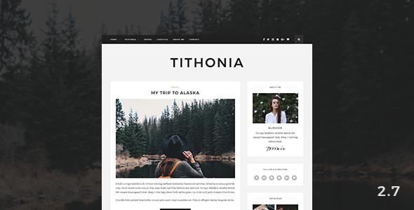 Wordpress Blog Template Tithonia - WordPress Blog Theme