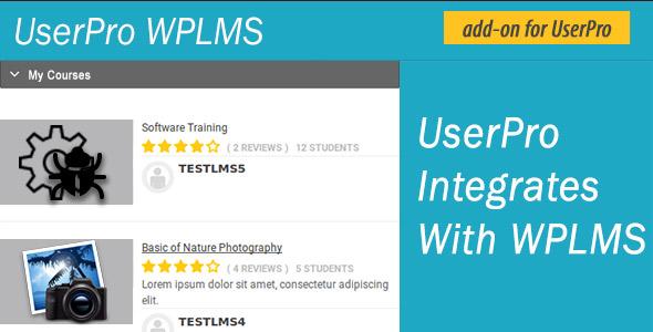 Wordpress Add-On Plugin UserPro WPLMS